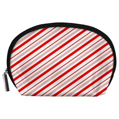 Candy Cane Stripes Accessory Pouches (large)  by jumpercat