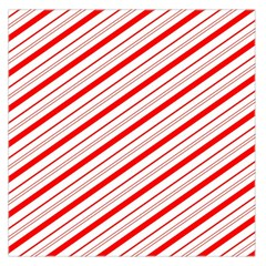 Candy Cane Stripes Large Satin Scarf (square)