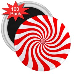 Peppermint Candy 3  Magnets (100 Pack)