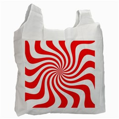 Peppermint Candy Recycle Bag (one Side)