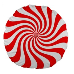Peppermint Candy Large 18  Premium Round Cushions by jumpercat
