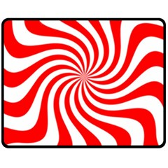 Peppermint Candy Double Sided Fleece Blanket (medium)  by jumpercat