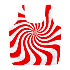 Peppermint Candy Full Print Recycle Bags (l)