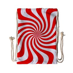 Peppermint Candy Drawstring Bag (small)