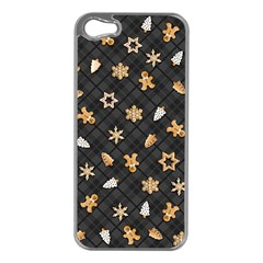 Gingerbread Dark Apple Iphone 5 Case (silver)