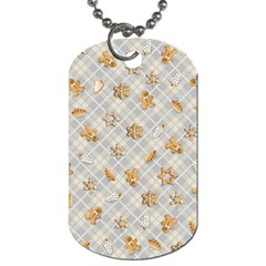 Gingerbread Light Dog Tag (two Sides)