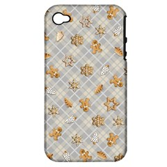Gingerbread Light Apple Iphone 4/4s Hardshell Case (pc+silicone)