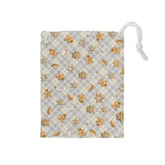 Gingerbread Light Drawstring Pouches (medium)