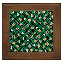 Gingerbread Green Framed Tiles by jumpercat