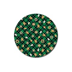 Gingerbread Green Magnet 3  (round) by jumpercat