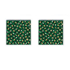 Gingerbread Green Cufflinks (square) by jumpercat
