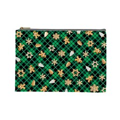 Gingerbread Green Cosmetic Bag (large)  by jumpercat