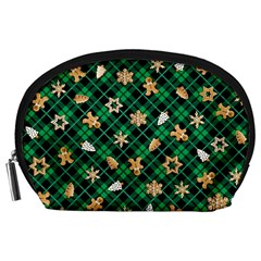 Gingerbread Green Accessory Pouches (large)  by jumpercat