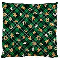 Gingerbread Green Standard Flano Cushion Case (one Side)