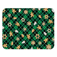 Gingerbread Green Double Sided Flano Blanket (large)  by jumpercat