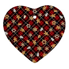 Gingerbread Red Ornament (heart) by jumpercat