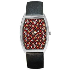 Gingerbread Red Barrel Style Metal Watch