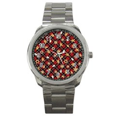 Gingerbread Red Sport Metal Watch by jumpercat