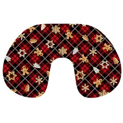 Gingerbread Red Travel Neck Pillows