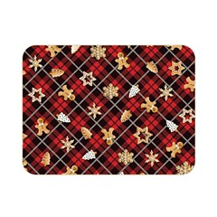 Gingerbread Red Double Sided Flano Blanket (mini)  by jumpercat