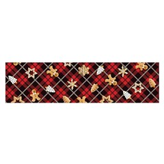Gingerbread Red Satin Scarf (oblong)