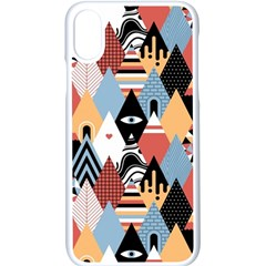 Abstract Diamond Pattern Apple Iphone X Seamless Case (white) by allthingseveryday