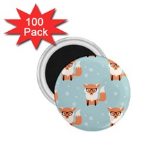 Cute Fox Pattern 1 75  Magnets (100 Pack)  by allthingseveryday