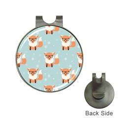 Cute Fox Pattern Hat Clips With Golf Markers by allthingseveryday