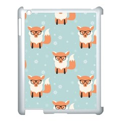 Cute Fox Pattern Apple Ipad 3/4 Case (white) by allthingseveryday