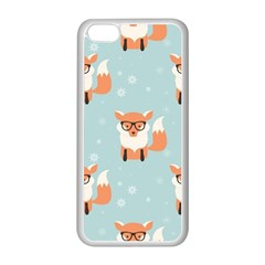 Cute Fox Pattern Apple Iphone 5c Seamless Case (white) by allthingseveryday