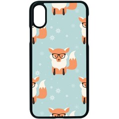 Cute Fox Pattern Apple Iphone X Seamless Case (black) by allthingseveryday