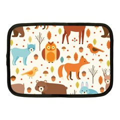 Woodland Friends Pattern Netbook Case (medium)  by allthingseveryday