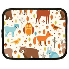 Woodland Friends Pattern Netbook Case (large) by allthingseveryday