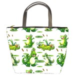 Crocodiles In The Pond Bucket Bags Front