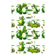 Crocodiles In The Pond Shower Curtain 48  X 72  (small)  by allthingseveryday