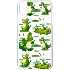 Crocodiles In The Pond Apple Iphone X Seamless Case (white) by allthingseveryday