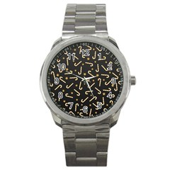 Golden Candycane Dark Sport Metal Watch