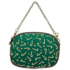 Golden Candycane Green Chain Purses (one Side)