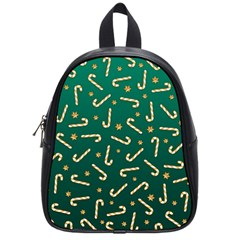 Golden Candycane Green School Bag (small) by jumpercat