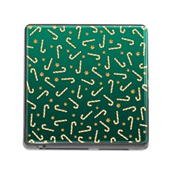 Golden Candycane Green Memory Card Reader (square) by jumpercat