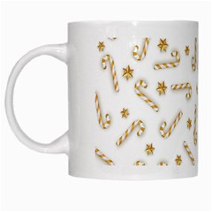 Golden Candycane Light White Mugs by jumpercat