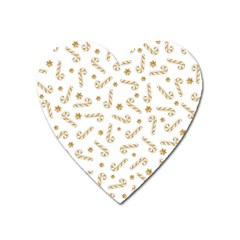 Golden Candycane Light Heart Magnet by jumpercat