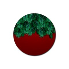 Xmas Tree Rubber Round Coaster (4 Pack)  by jumpercat