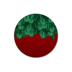 Xmas Tree Magnet 3  (round) by jumpercat