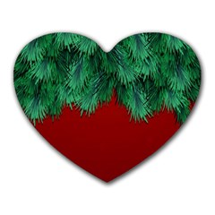 Xmas Tree Heart Mousepads by jumpercat