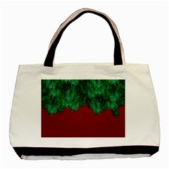 Xmas Tree Basic Tote Bag (two Sides) by jumpercat