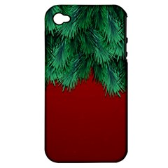 Xmas Tree Apple Iphone 4/4s Hardshell Case (pc+silicone) by jumpercat