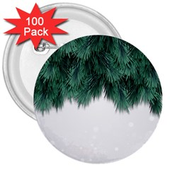 Snow And Tree 3  Buttons (100 Pack)  by jumpercat