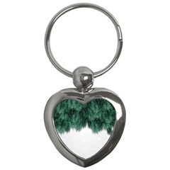 Snow And Tree Key Chains (heart)  by jumpercat