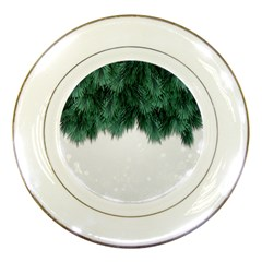 Snow And Tree Porcelain Plates